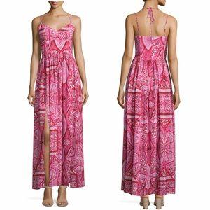Amanda Uprichard Rio Geometric Print Maxi Dress